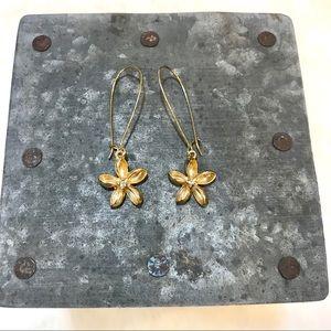 Anthropologie flower dangle earrings